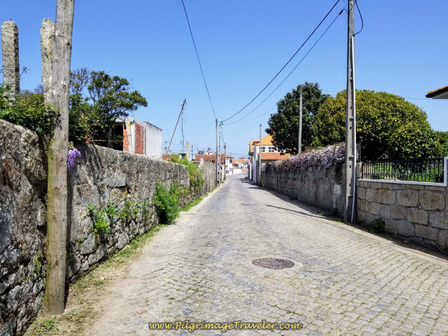 Through the Town of Vilar on day fifteen on the Central Route of the Portuguese Way