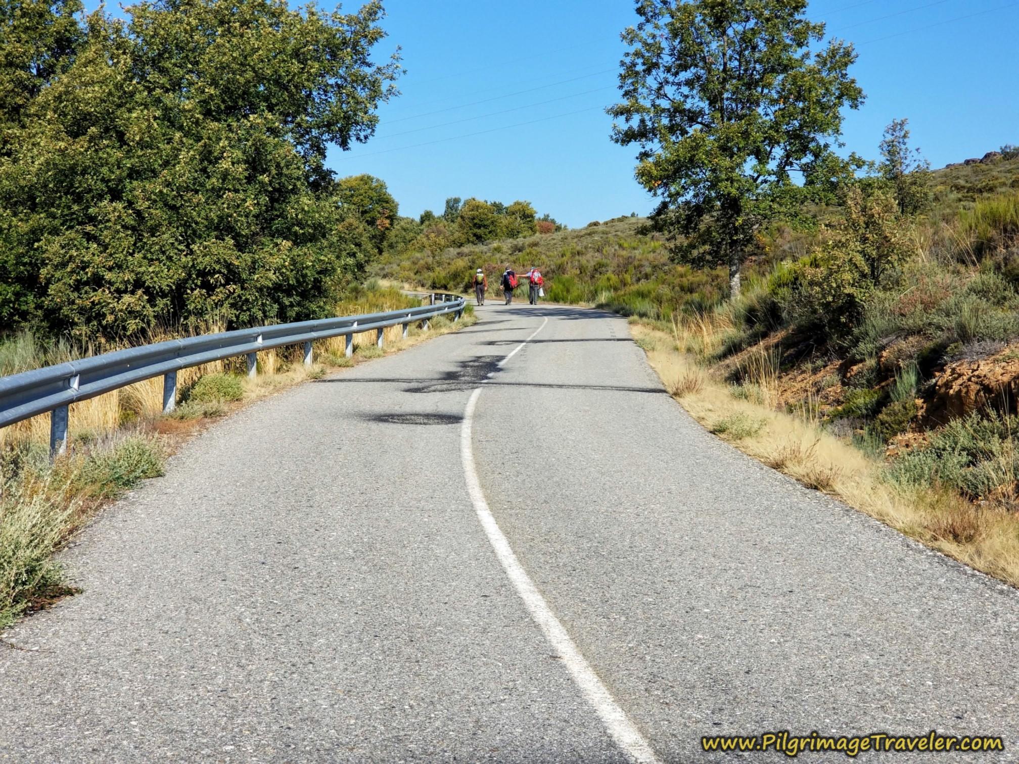 Open Pavement, Climbing Toward Triufé on the Camino Sanabrés from Entrepeñas to Puebla de Sanabria