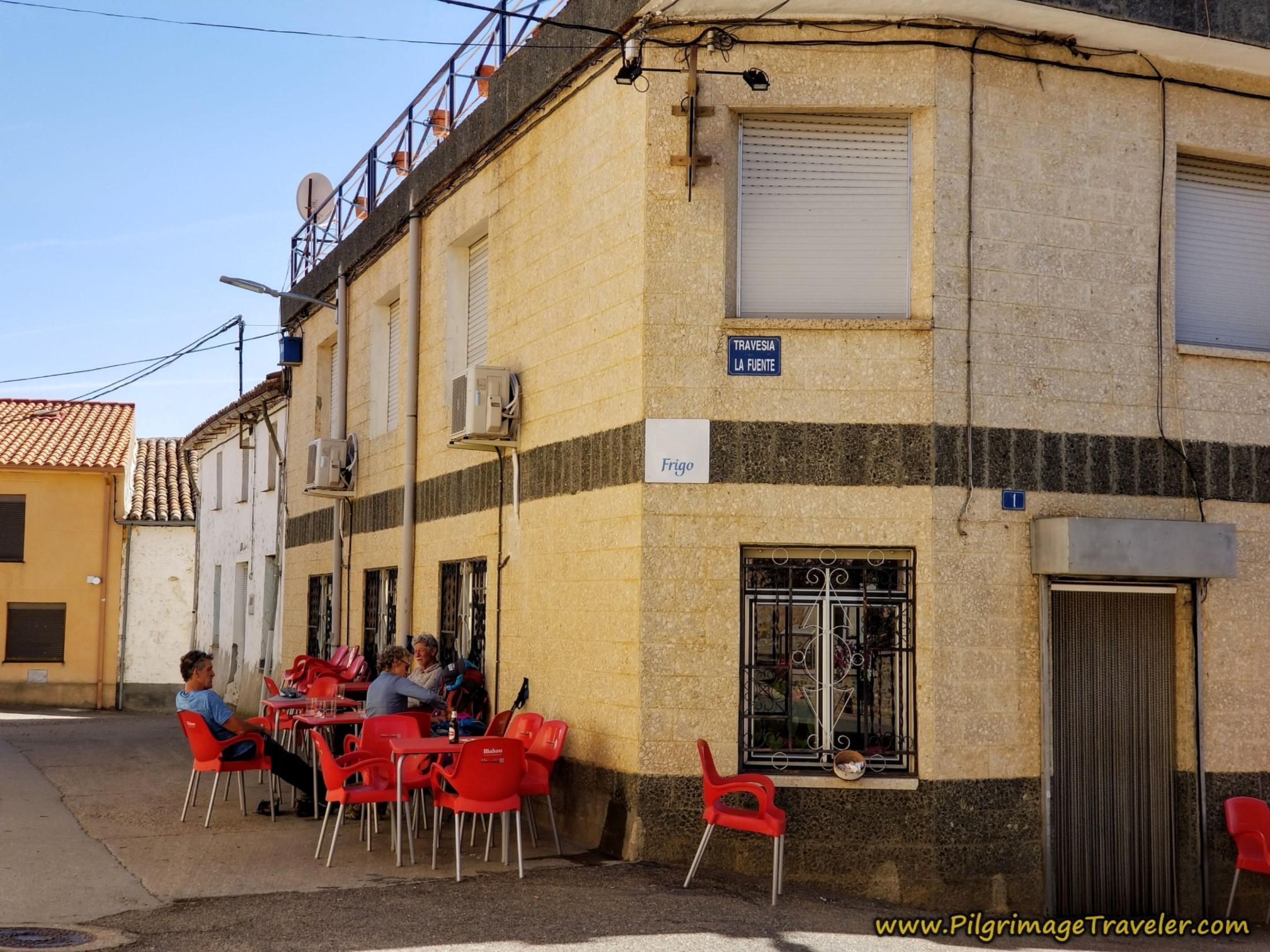 Respite at the Bar Boya on the Camino Sanabrés from Granja de Moreruela to Tábara