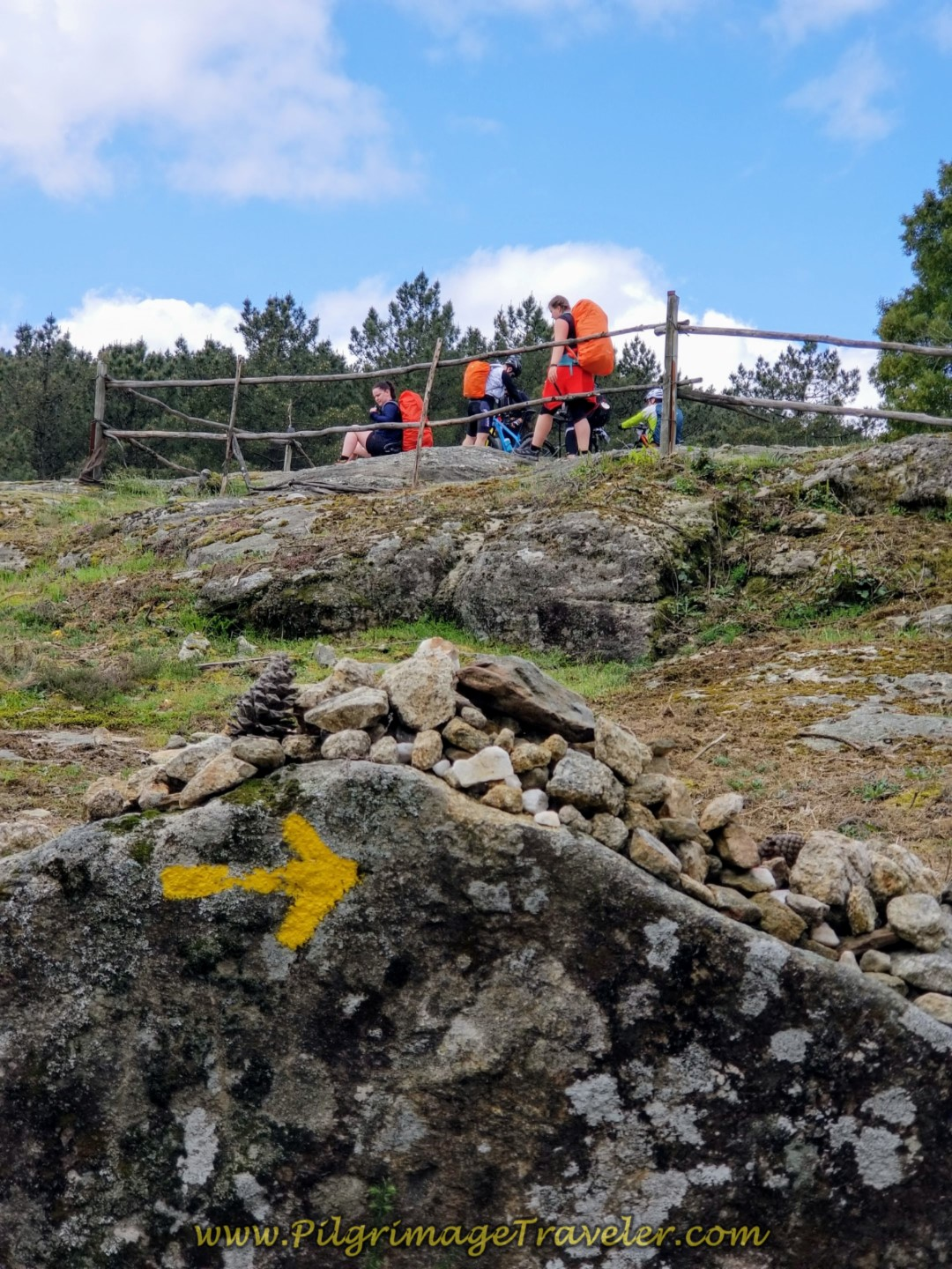 Alto da Portela Grande de Labruja on day eighteen on the Central Route of the Portuguese Camino