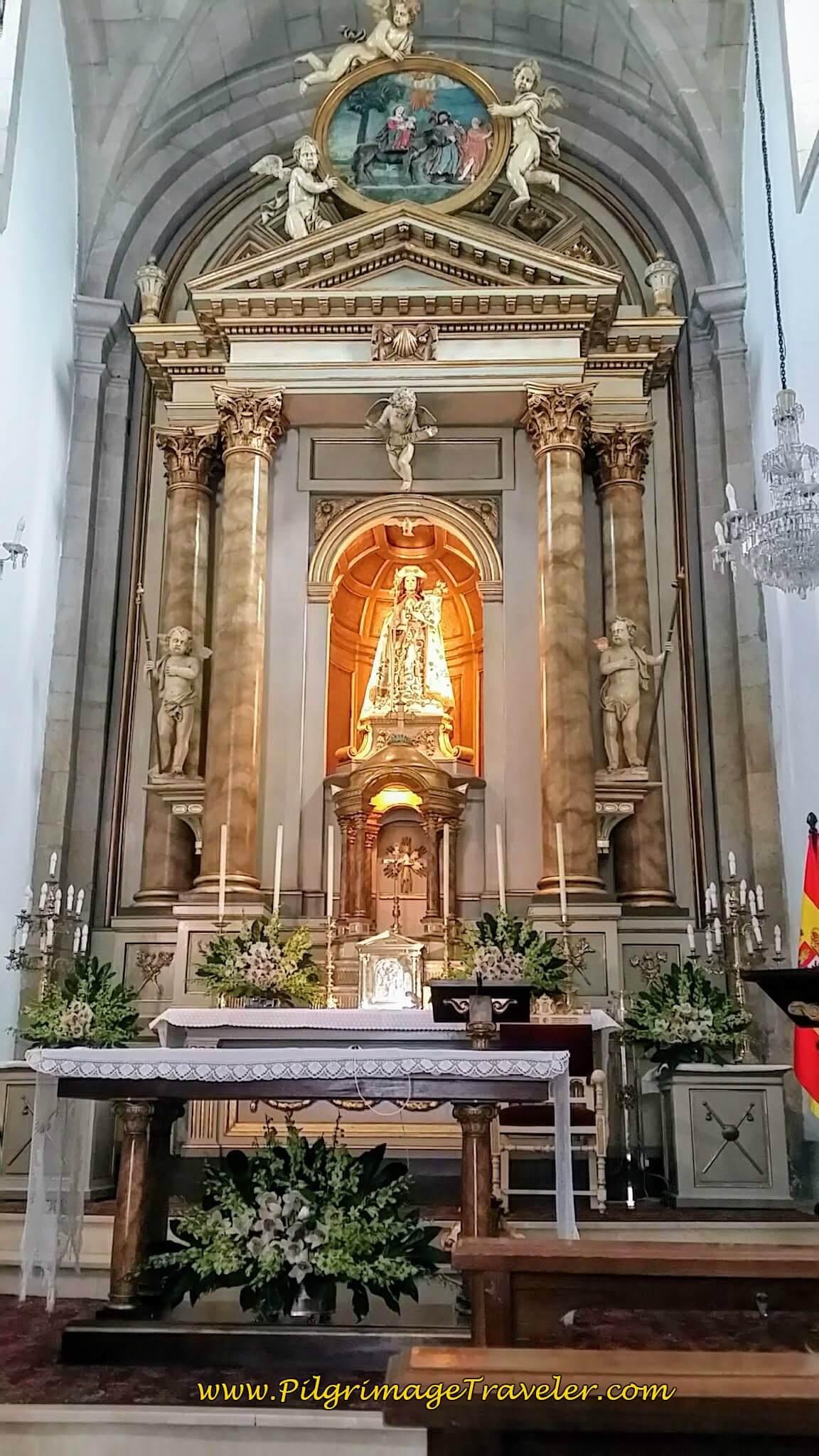 Main Altar to Santiago in the Capela da Virxe Peregrina de Pontevedra, day twenty-two on the Camino Portugués