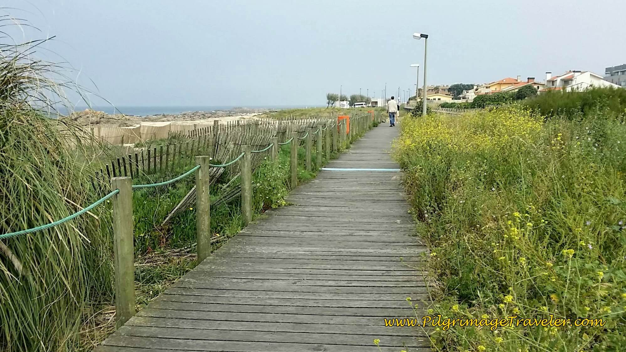 Boardwalk Just Beyond Praia da Quebrada on day fifteen of the Camino Portugués on the Senda Litoral