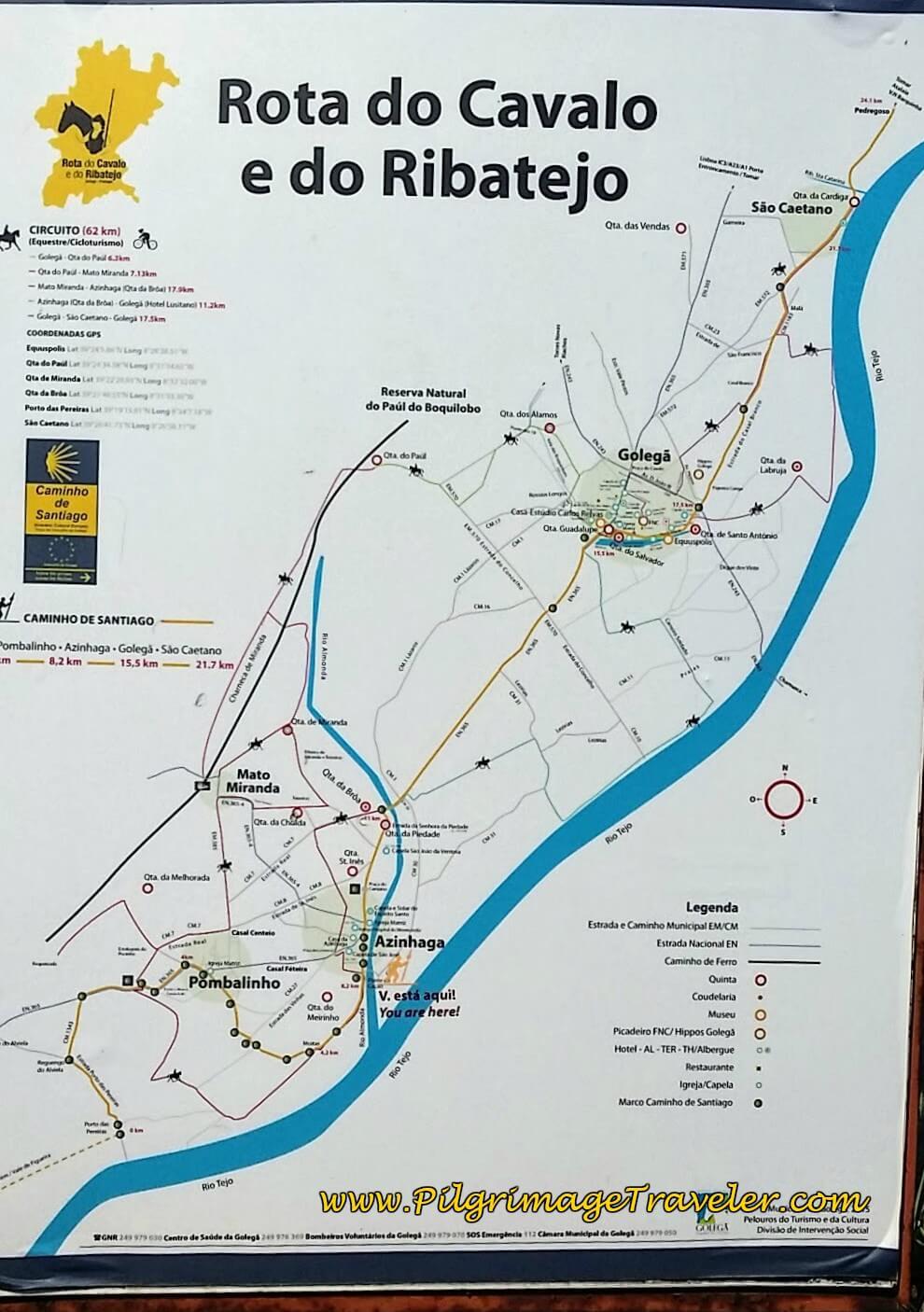 Route Map Upon Entering Azinhaga