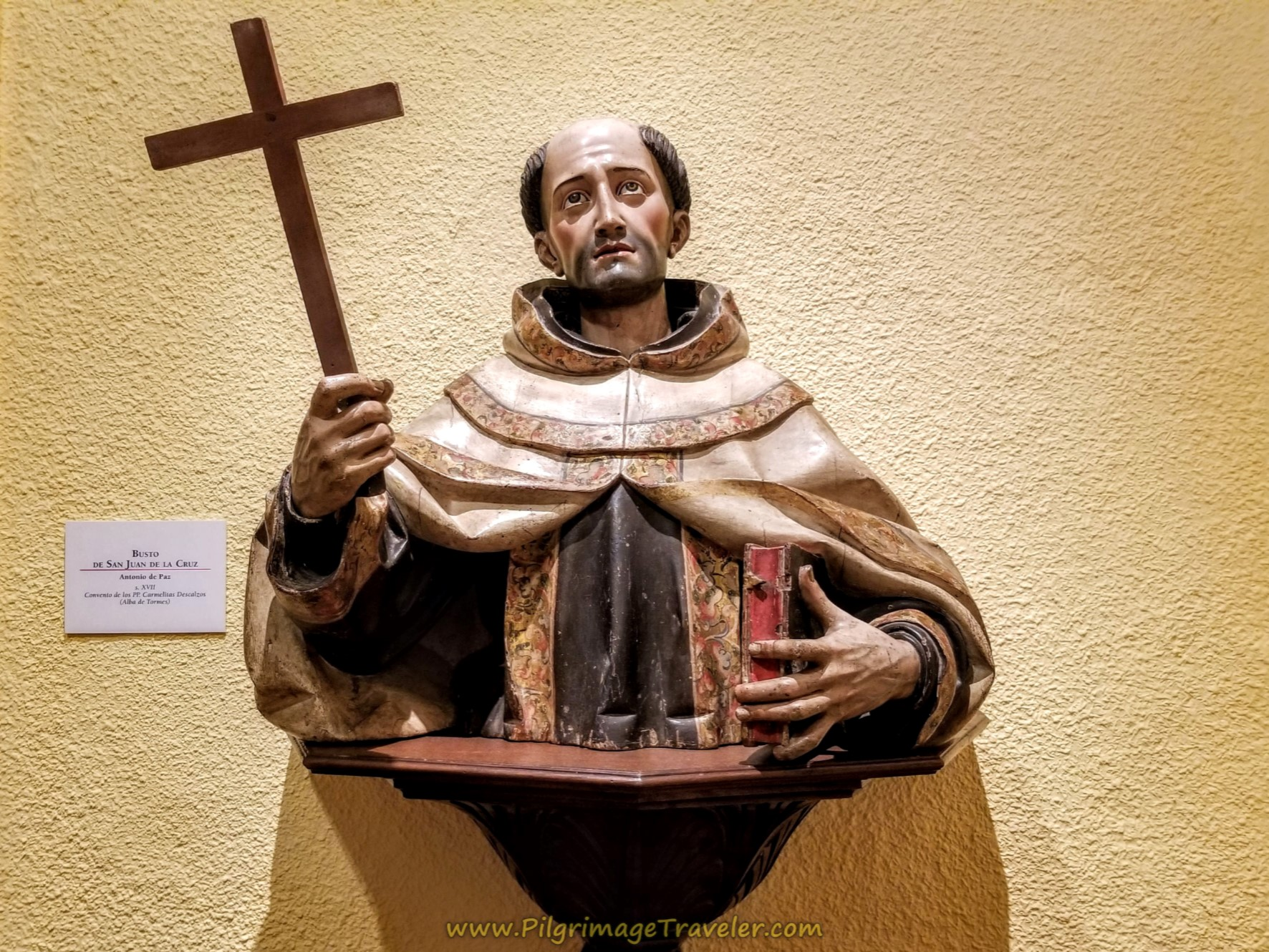 Carving of St. John of the Cross, Centro Teresiano Sanjuanista, Alba de Tormes