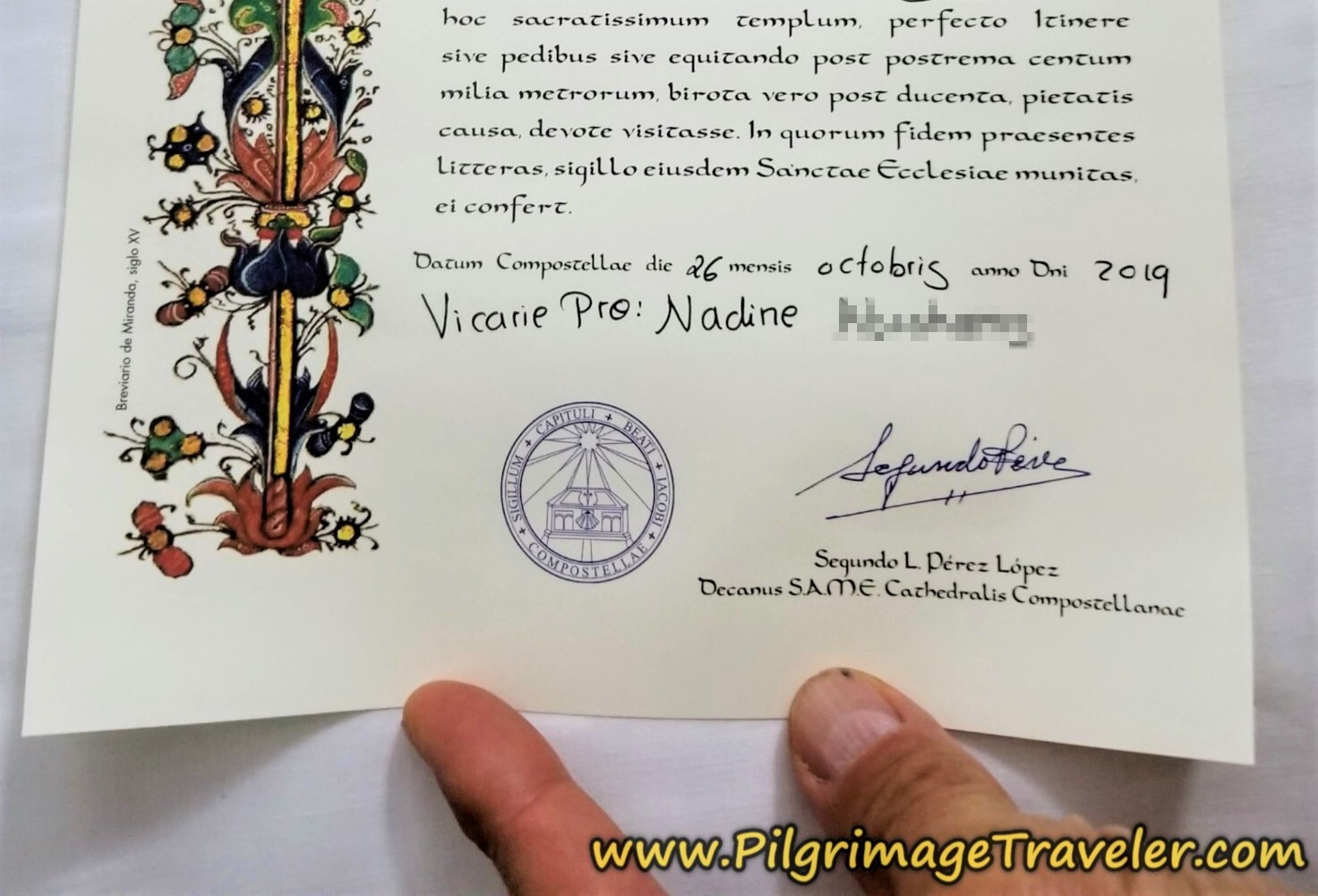 Compostela for Nadine