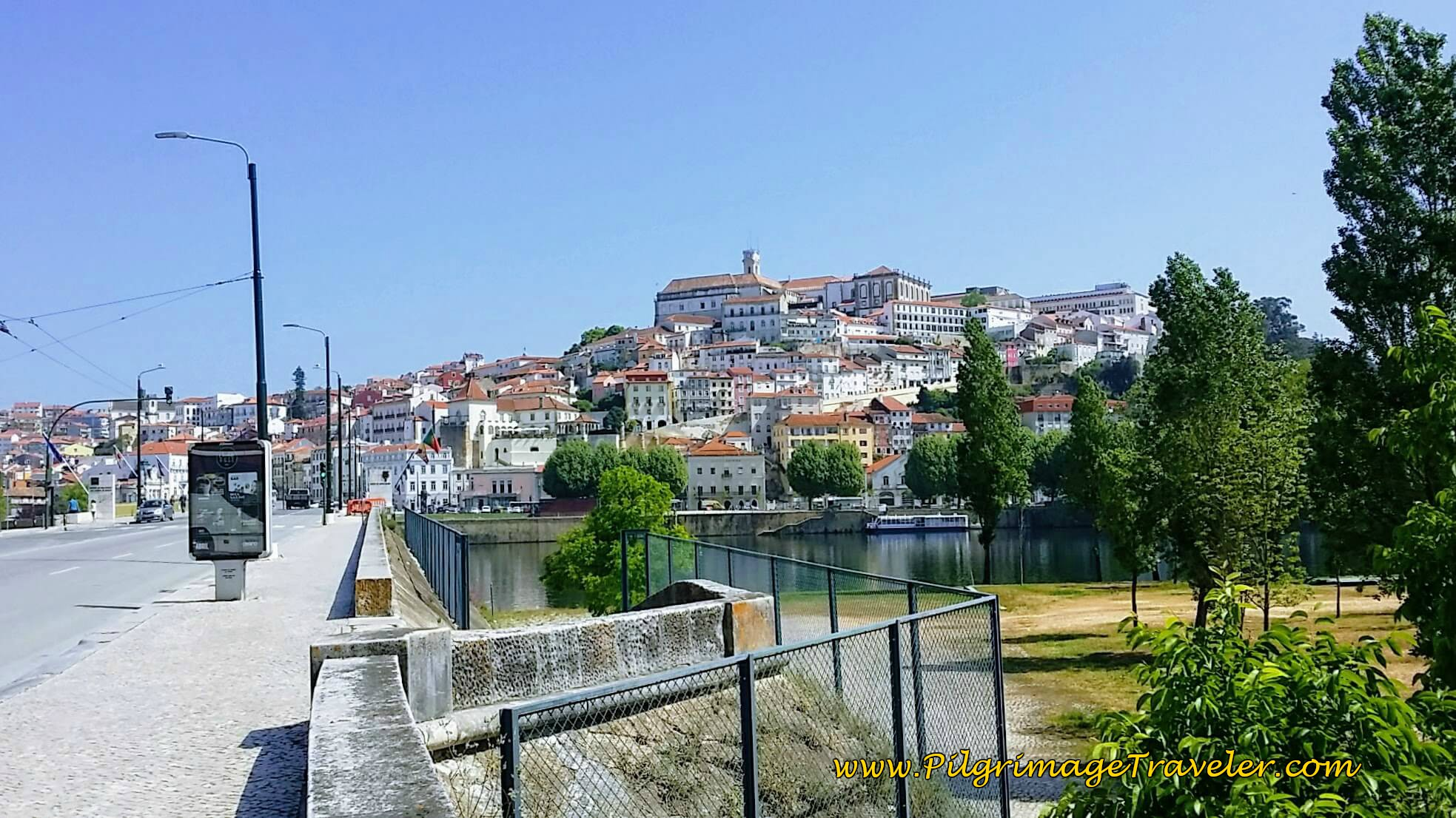 Crossing the Mondego River Into Coimbra