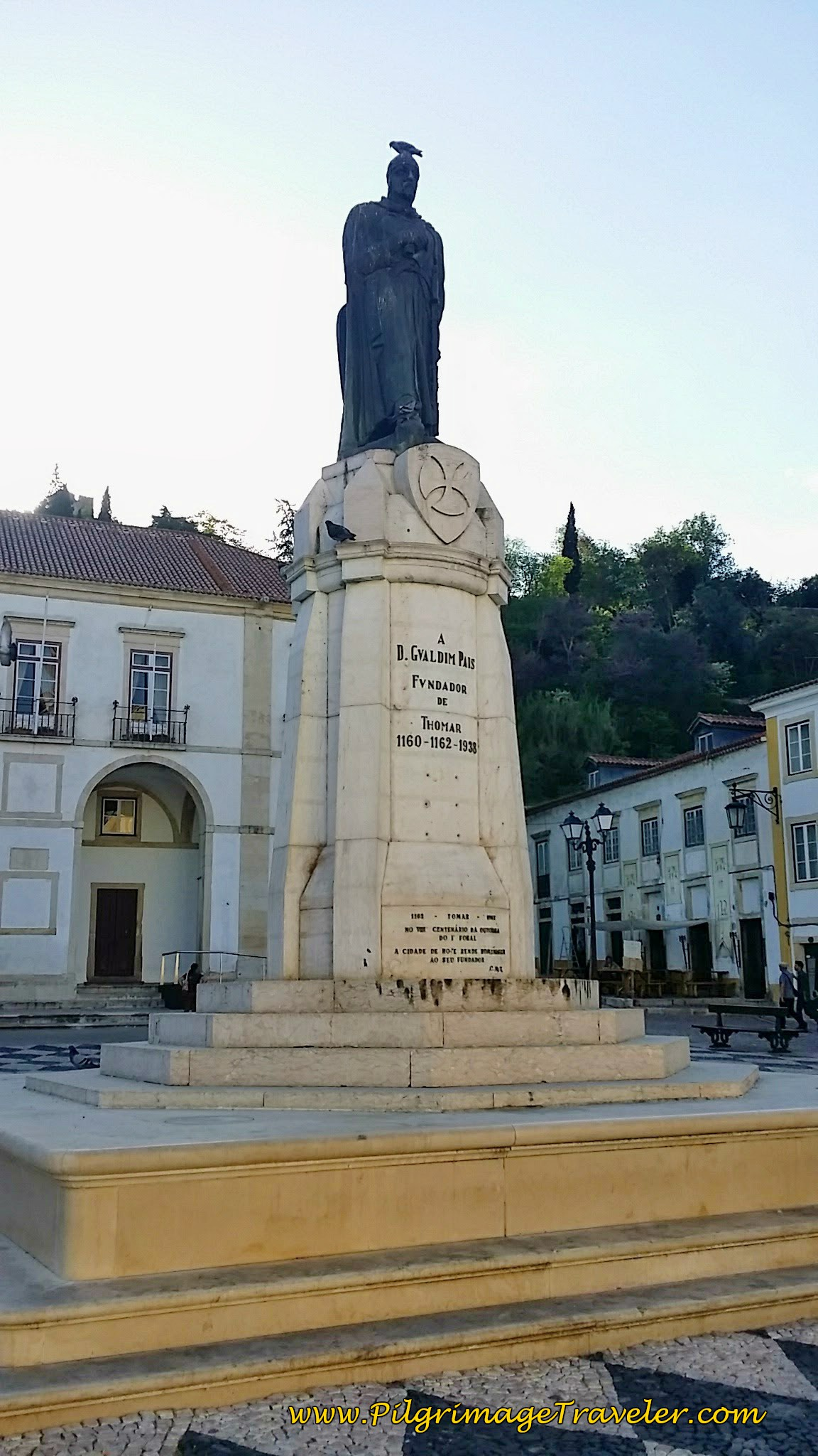 Statue of Gualdim Pais ~ Founder of Tomar, Portugal