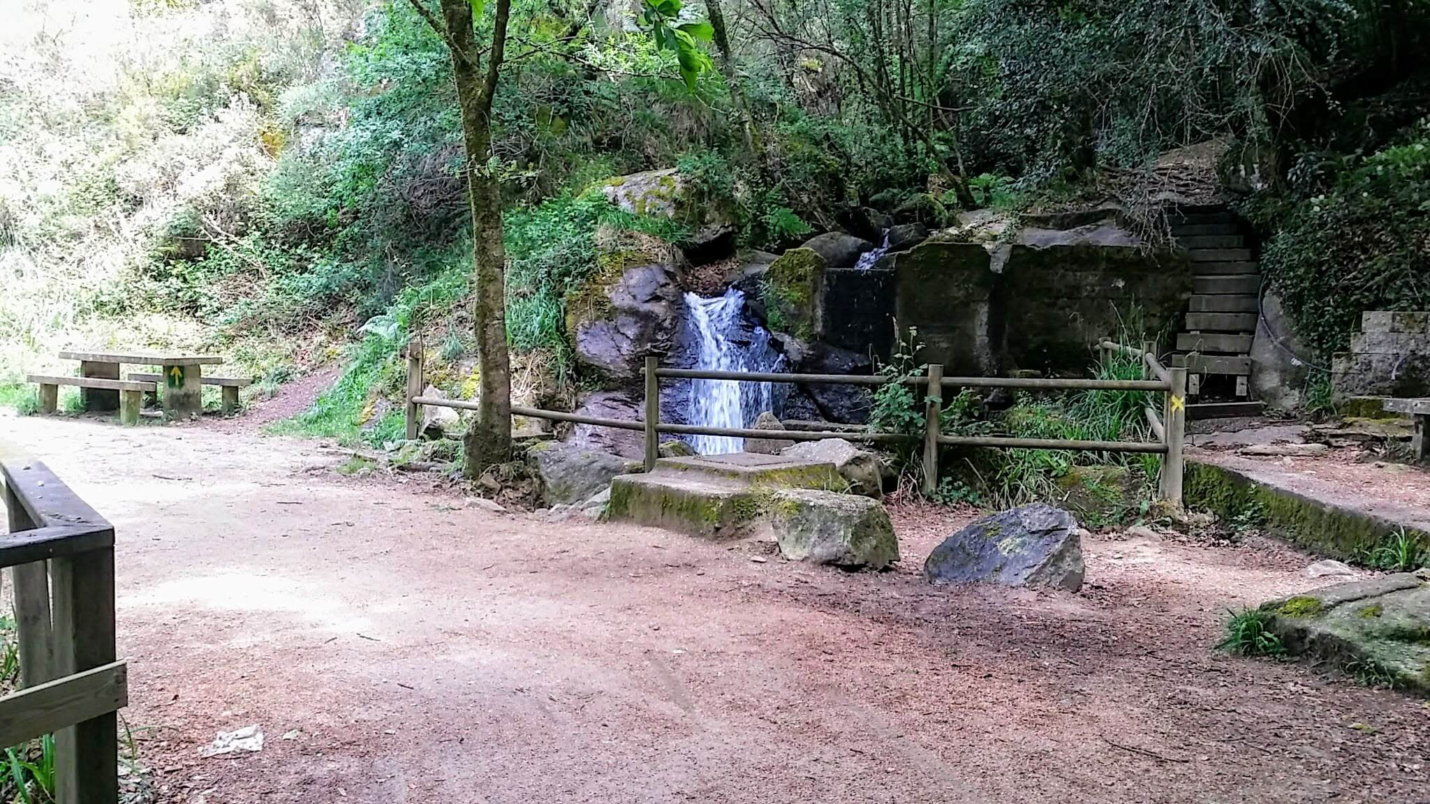 Waterfall Picnic Area at the Rego Fondón on day twenty-one of the Camino Portugués
