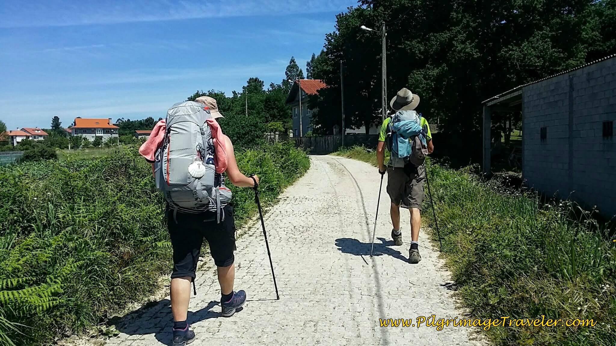 Cobblestone Path on the Way Towards Milladoiro on Day Twenty-Four, Portuguese Camino