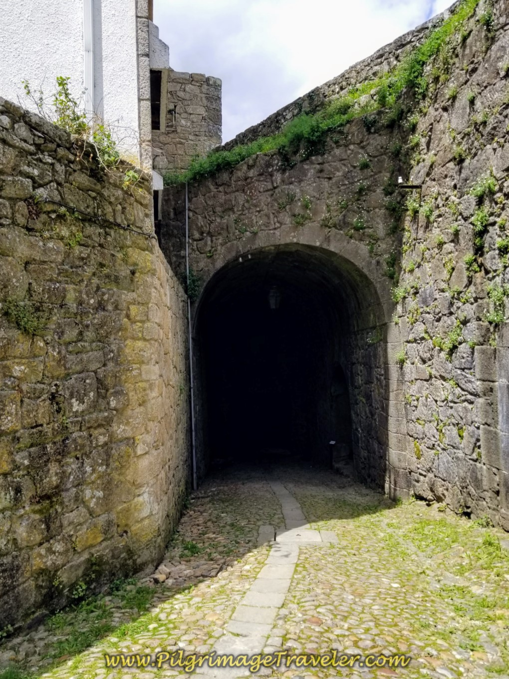 Exiting Valença Through the Ramparts on day nineteen on the Central Route of the Portuguese Camino