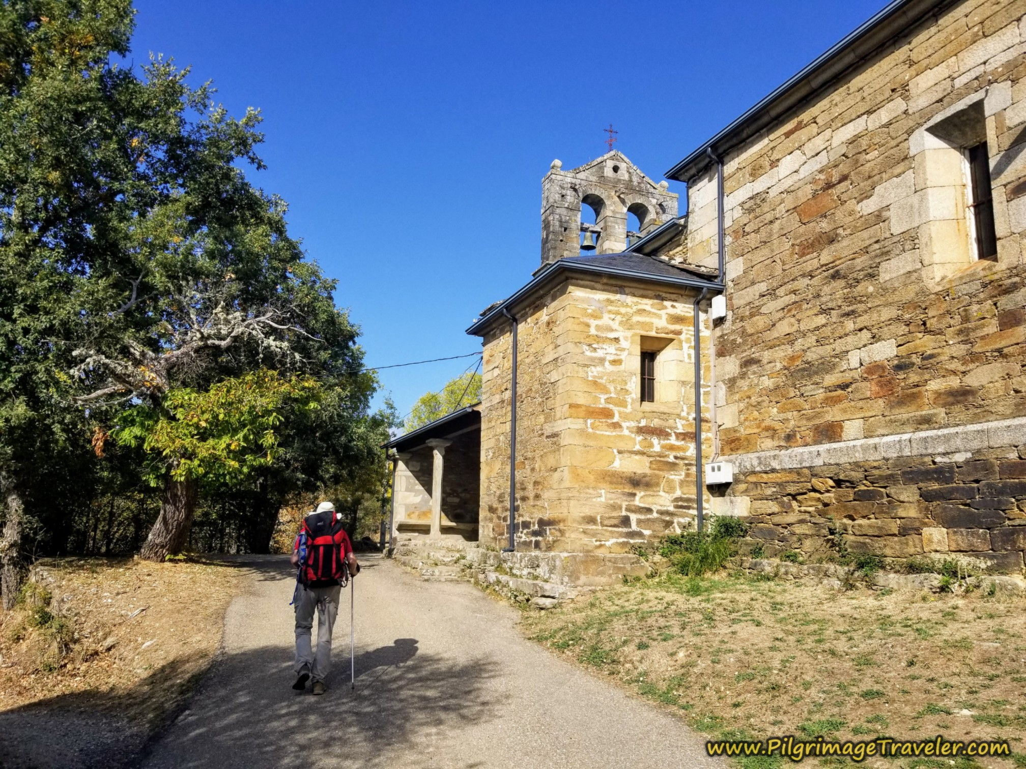 Pass by the Iglesia de Triufé on the Camino Sanabrés from Entrepeñas to Puebla de Sanabria