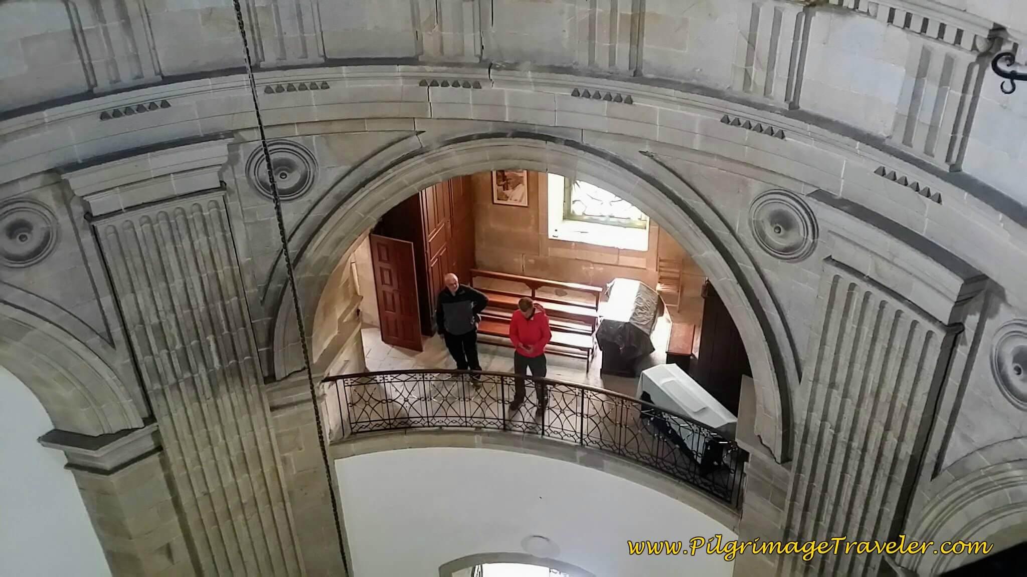 Upper Levels in the Capela da Virxe Peregrina de Pontevedra, day twenty-two on the Camino Portugués