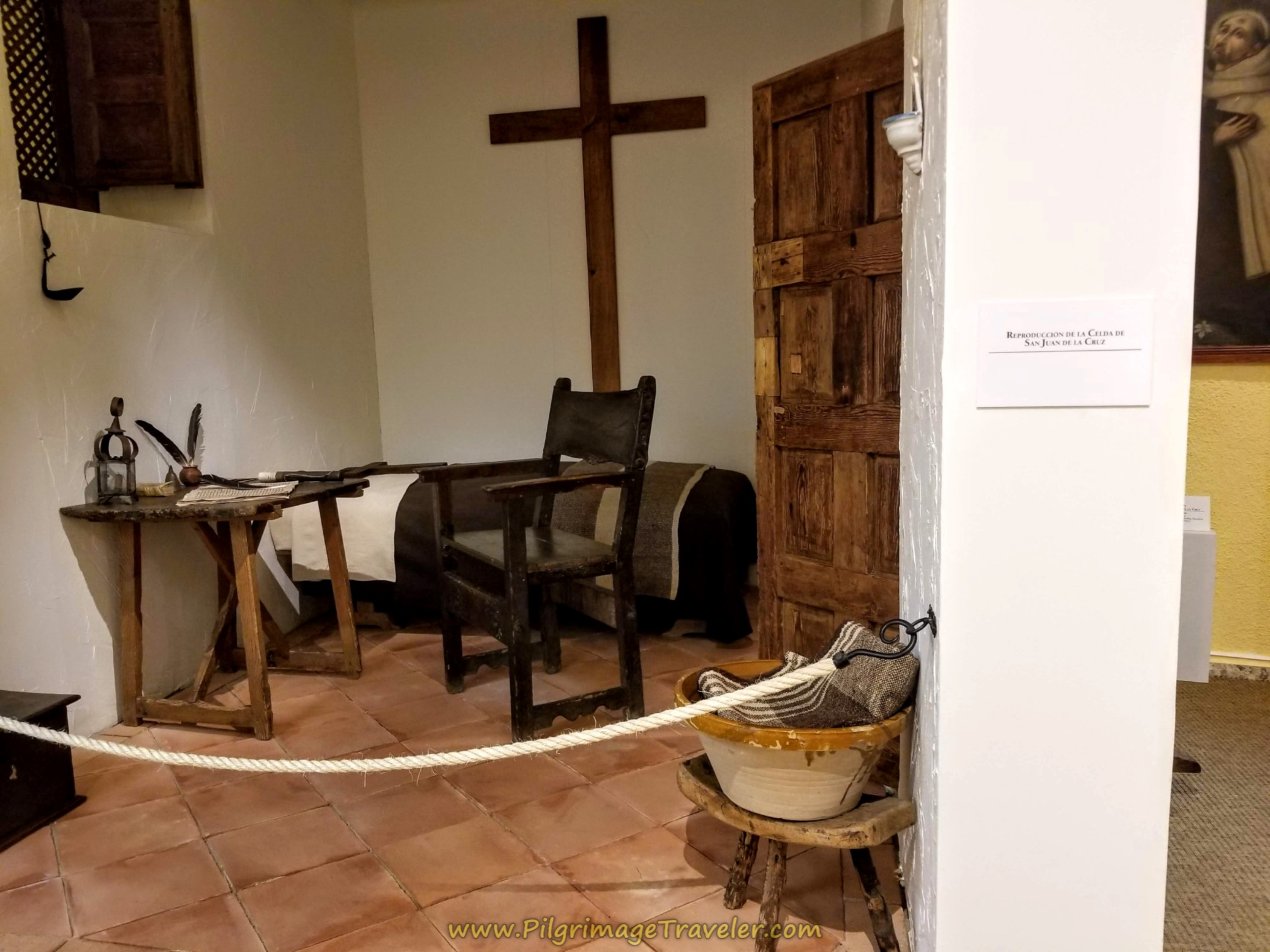 Reproduction of Cell of St. John of the Cross, Centro Teresiano Sanjuanista, Alba de Tormes