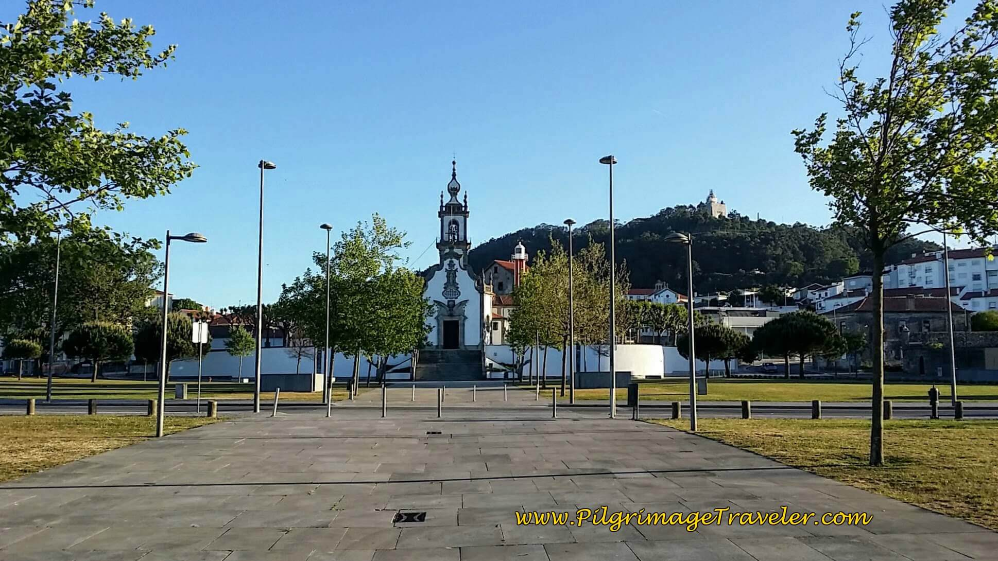 Walk by the Capela de Nossa Senhora da Agonia, Viana do Castelo on day eighteen of the Camino Portugués on the Senda Litoral