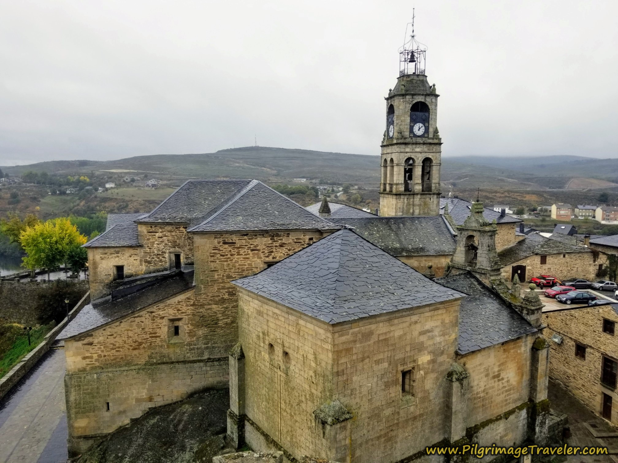 Iglesia de Santa María de Azogue, from Rampart Walls