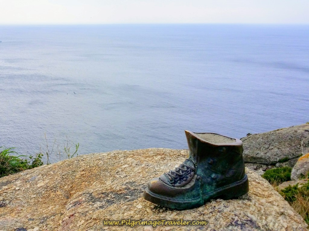 Bronze Boot Sculpture, Cabo Finisterre, Icon of the Past