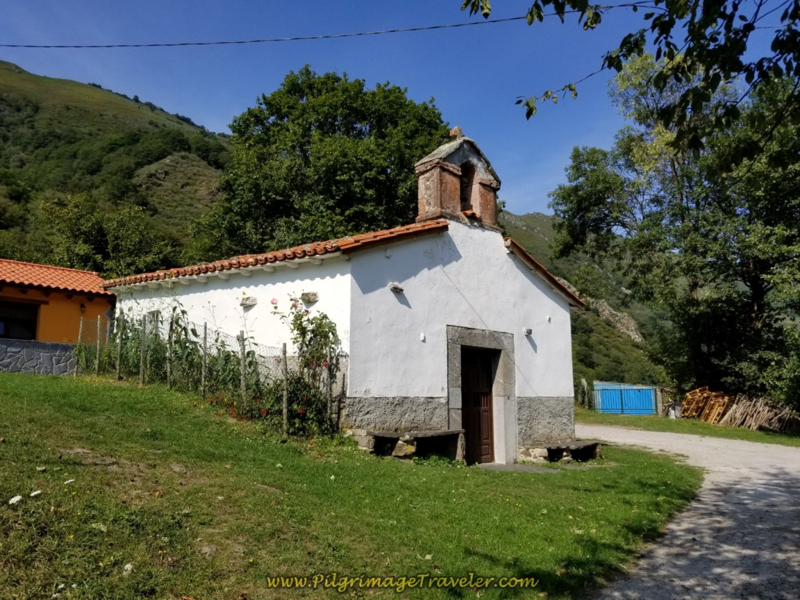 Country Church in Santa Marina on day four of the Camino de San Salvador
