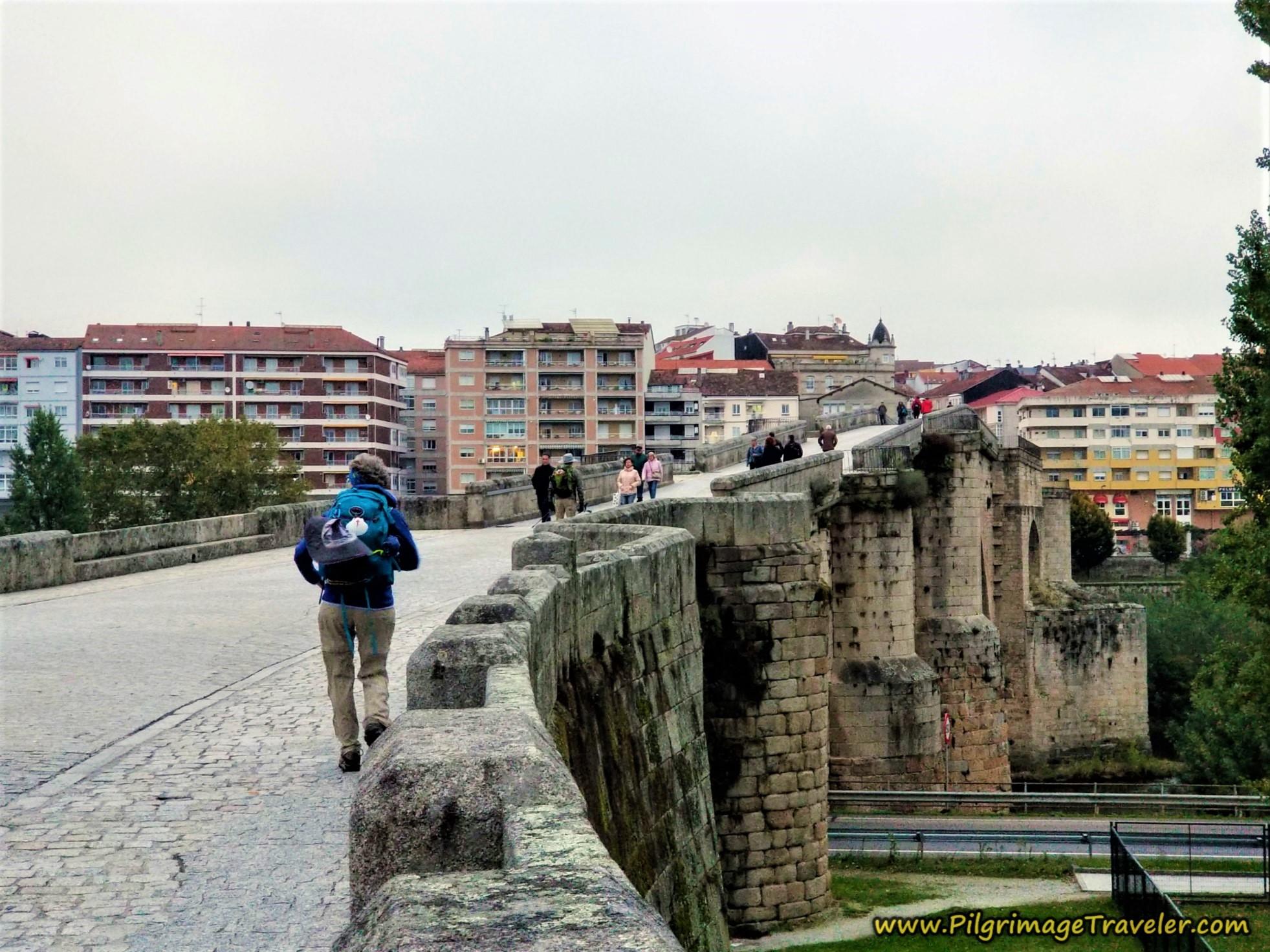Cross the Ponte Romano, Camino Sanabrés, Ourense to Cea