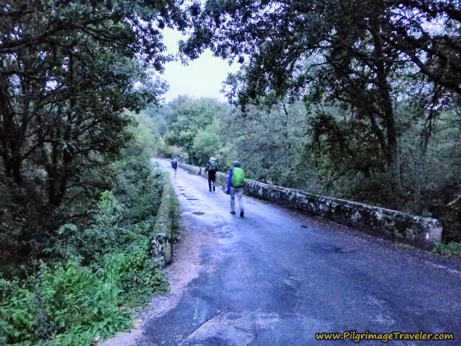 Cross Río Arnoia, Camino Sanabrés, Xunqueira de Ambía to Ourense