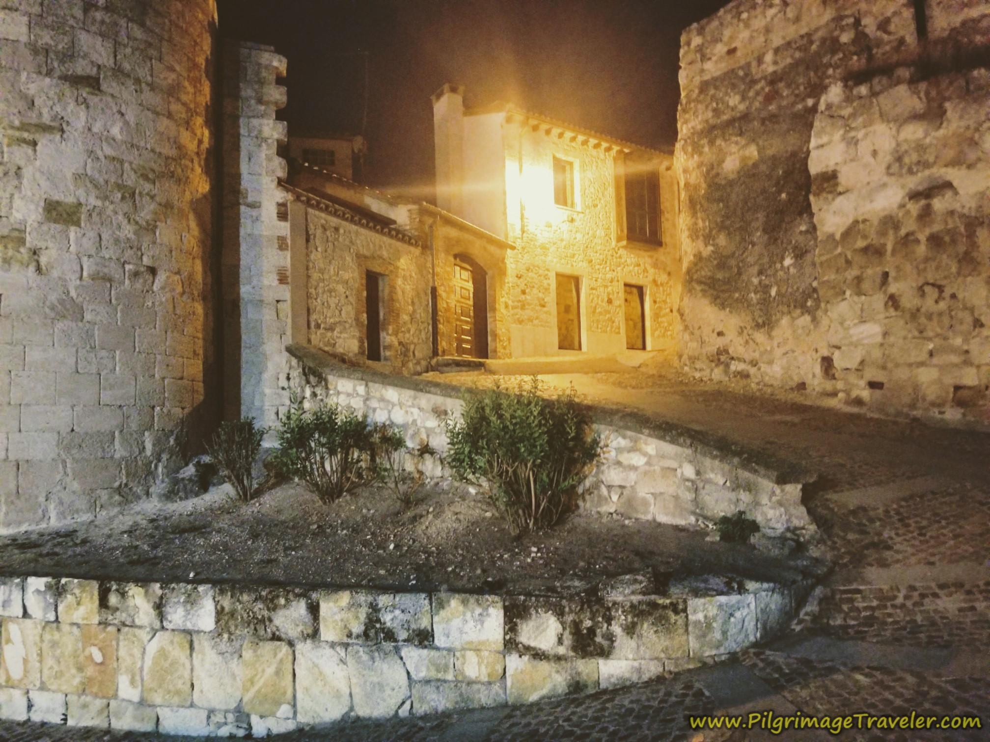 Leaving Zamora Through Medieval Walls