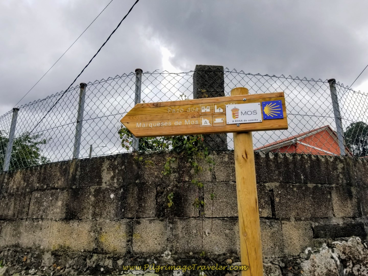 Municipality of Mos Information Signposts on day twenty-one of the central route of the Portuguese Camino