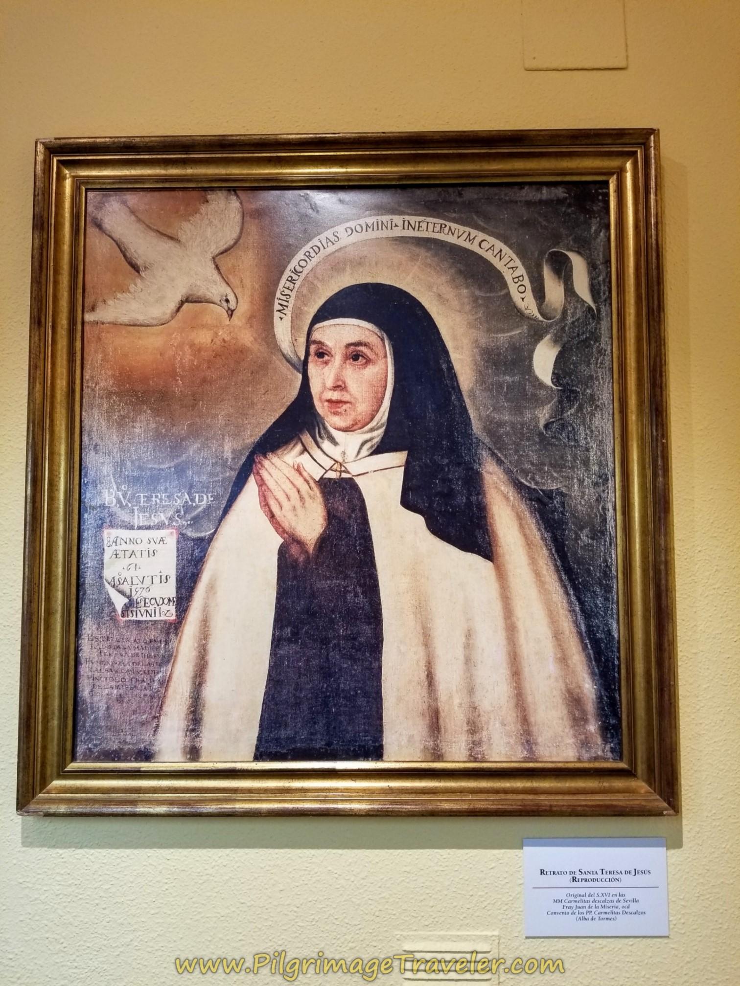 Reproduction of Famous St. Teresa Portrait, Centro Teresiano Sanjuanista, Alba de Tormes