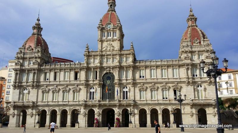 The Town Hall in the Plaza de Maria Pita, La Coruña, Galicia, Spain