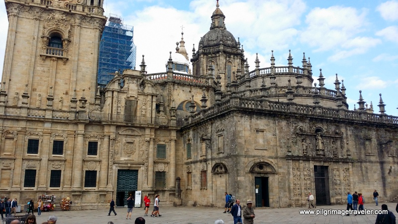 Plaza de la Quintana and the Puerta Santa, Cathedral of Santiago de Compostela, Spain