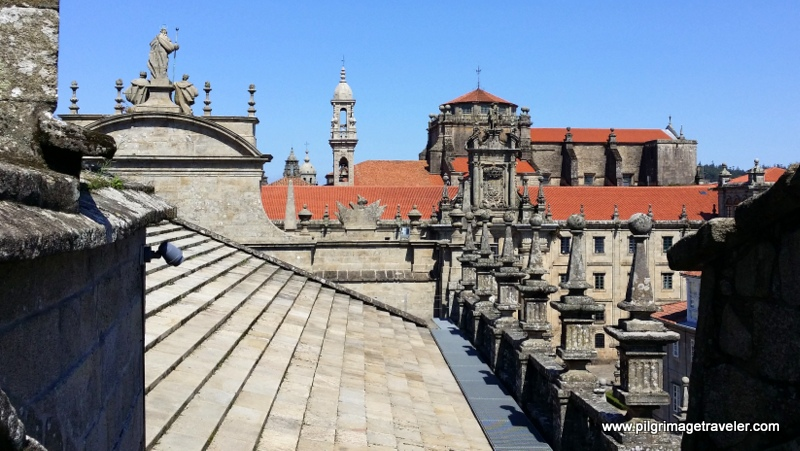 Northern rooftop view, Cathedral of Santiago de Compostela, Spain