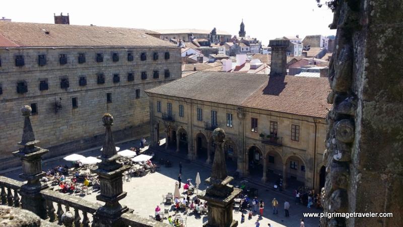 Birds Eye View of the Plaza de Quintana, Santiago de Compostela, Spain