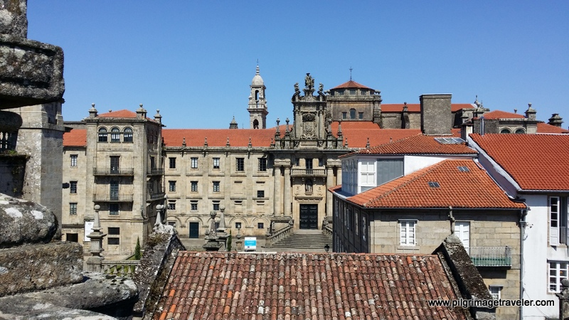 On the rooftop of the Cathedral of Santiago de Compostela, Spain