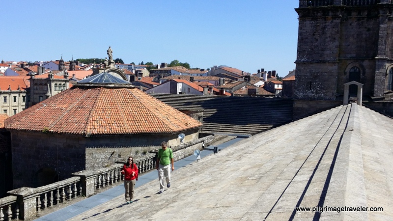 On the Roof of the Nave, Cathedral de Santiago de Compostela, Spain