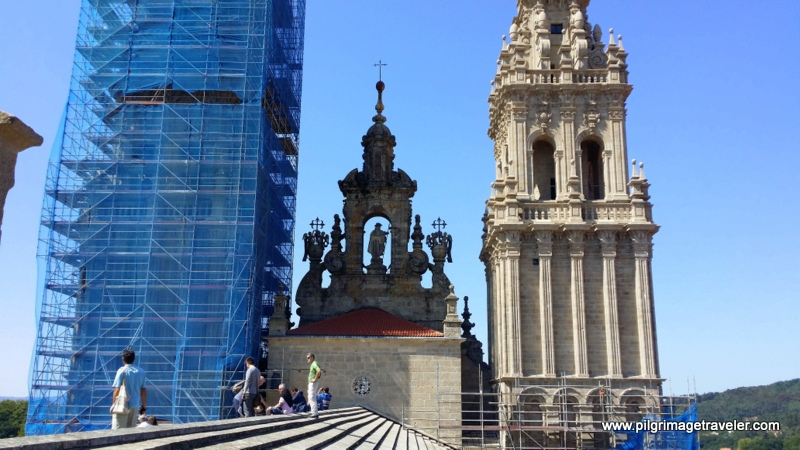 Behind the Western Façade, Rooftop of the Cathedral of Santiago de Compostela, Spain