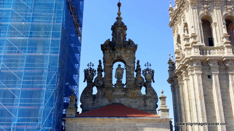 Rear View of the Western Facade, Rooftop Tour, Cathedral de Santiago de Compostela, Spain
