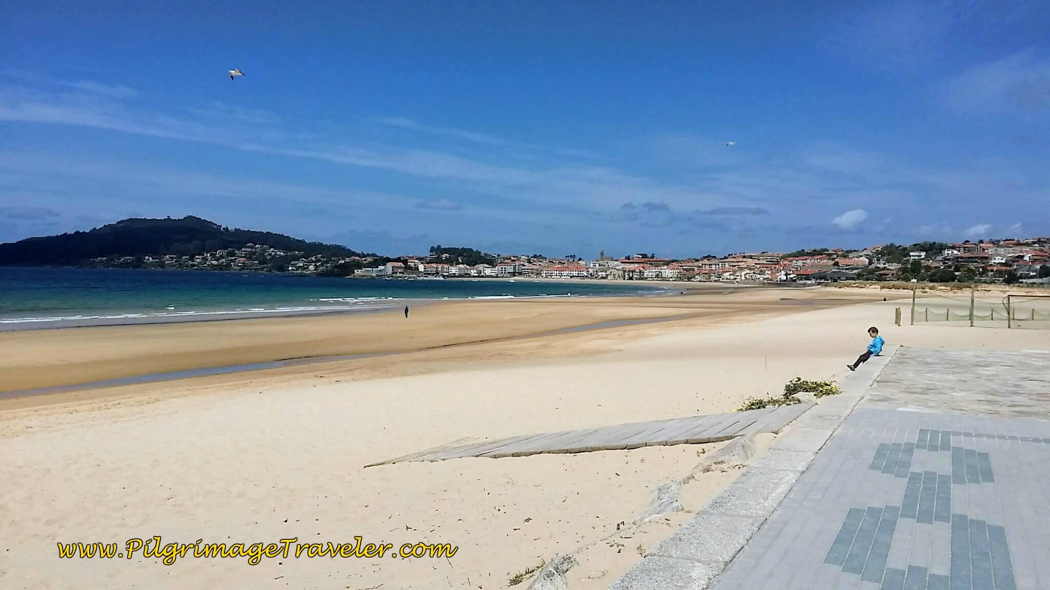 Long, Lovely Praia America on day twenty, Camino Portugués on the Senda Litoral