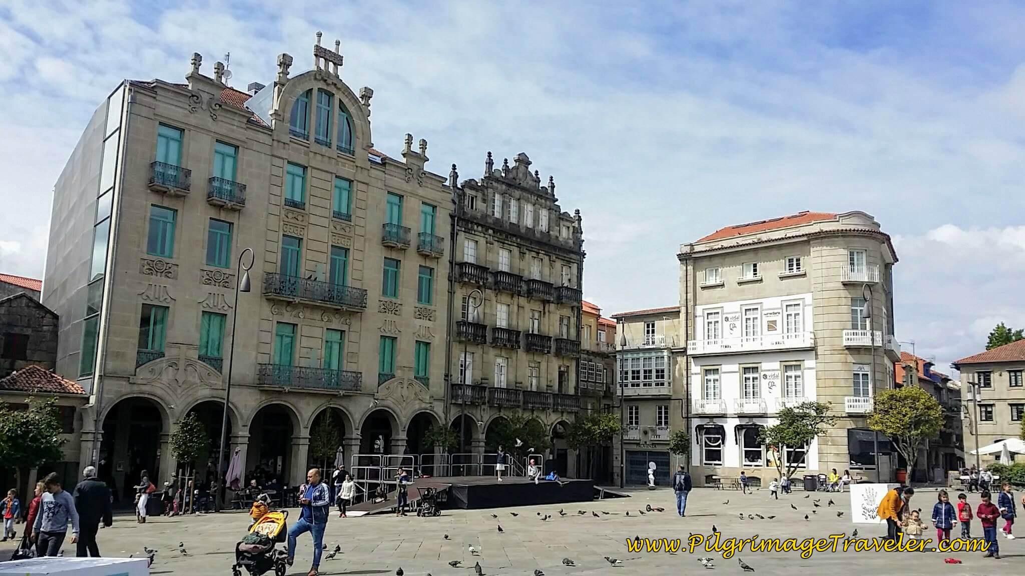 Praza da Ferrería, Pontevedra, day twenty-two on the Camino Portugués
