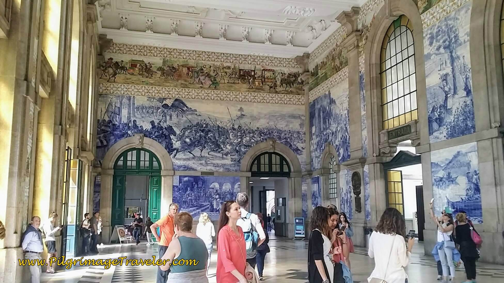 Famous Murals of São Bento Train Station in Porto, Portugal