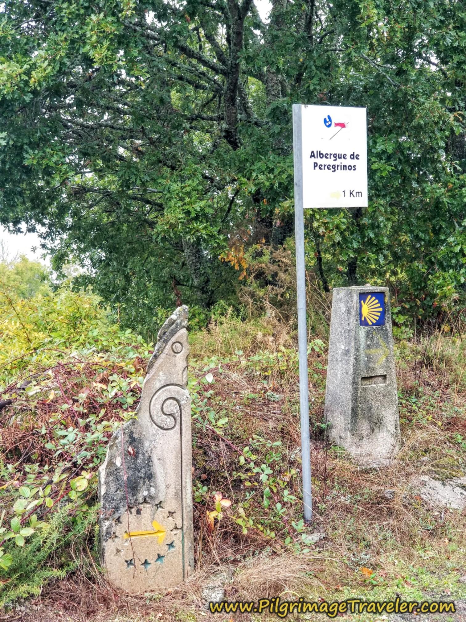 Albergue Ahead, Camino Sanabrés, Vilar de Barrio to Xunqueira de Ambía