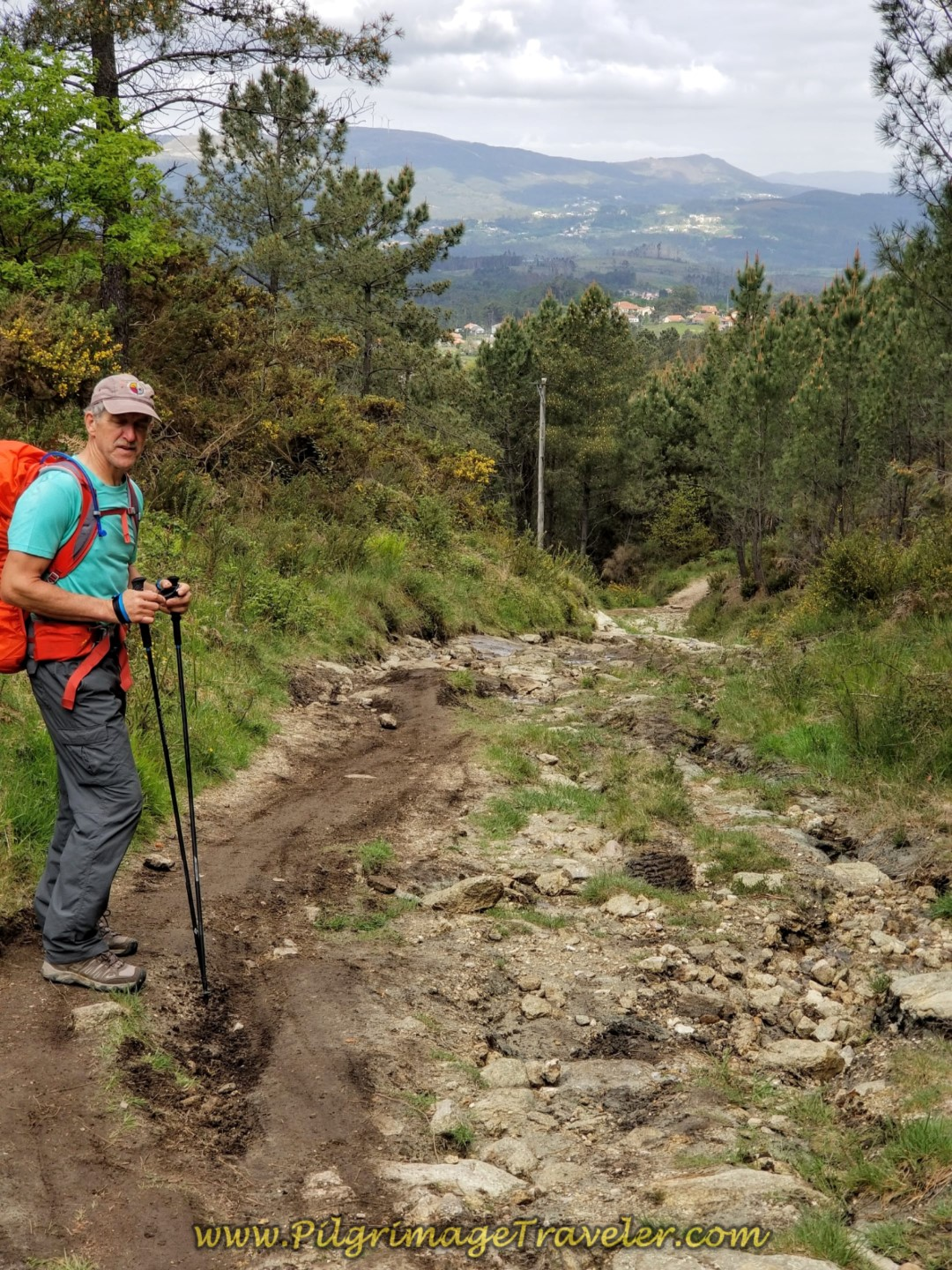 The Downhill, Almost as Steep and Rocky as the Uphill on day eighteen on the Central Route of the Portuguese Camino