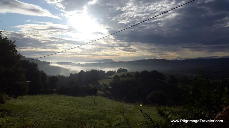 Sunrise on Day Seven, Camino Primitivo at Castro, Asturias, Spain