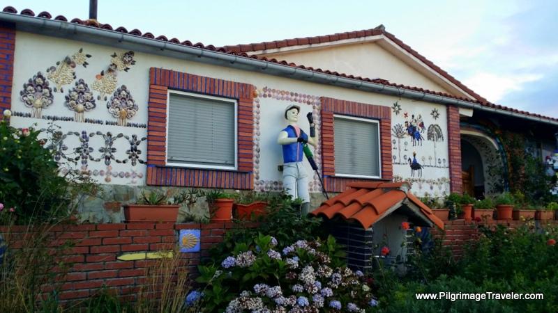 House Decorated with Shells, Camino Primitivo, Asturias, Spain