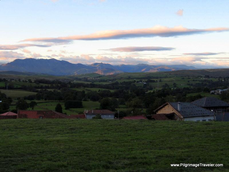Early Morning View of the Cantabrian Mountains, Camino de Santiago, Asturias, Spain