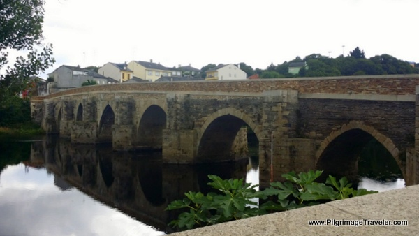 Footbridge From the River Angle in Lugo, Spain
