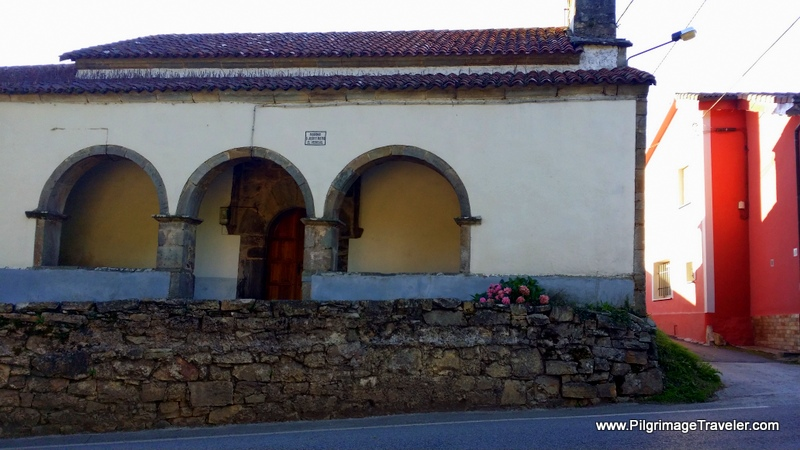 Street View of the church in El Pedregal, Asturias Spain on the Camino Primitivo