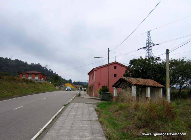 Long Hill Towards Gallegos, Day One, Camino Primitivo, Asturias, Spain