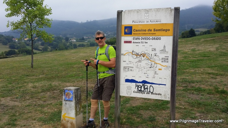 First Official Camino Primitivo Sign, Oviedo, Spain