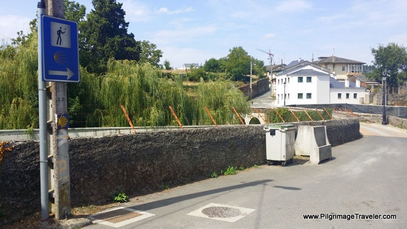 This Way Towards the Bridge into Lugo, Spain
