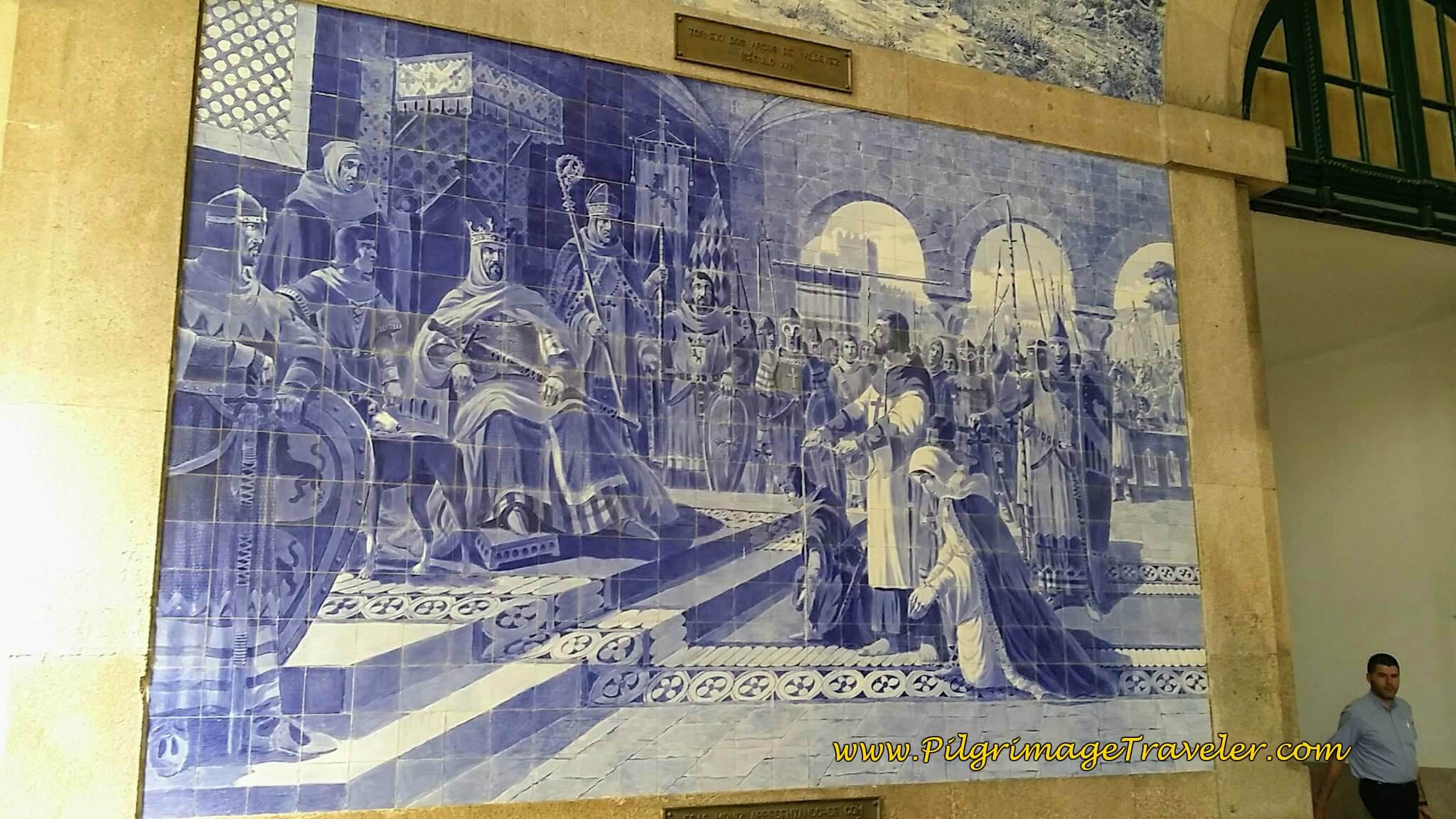 Mural of a Royal Scene in the São Bento Train Station in Porto, Portugal