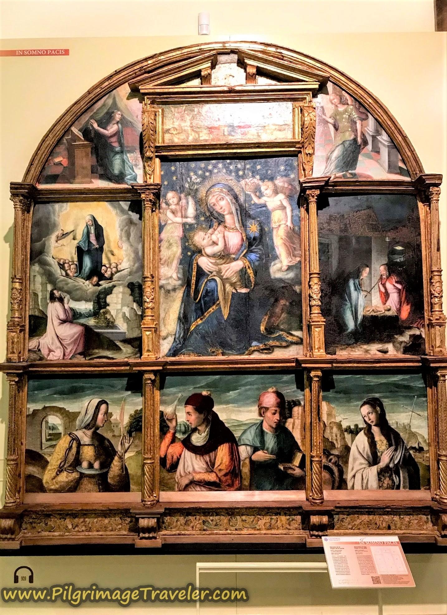 Virgen de la Leche, Nursing Madonna, Old Cathedral Museum, Salamanca Spain