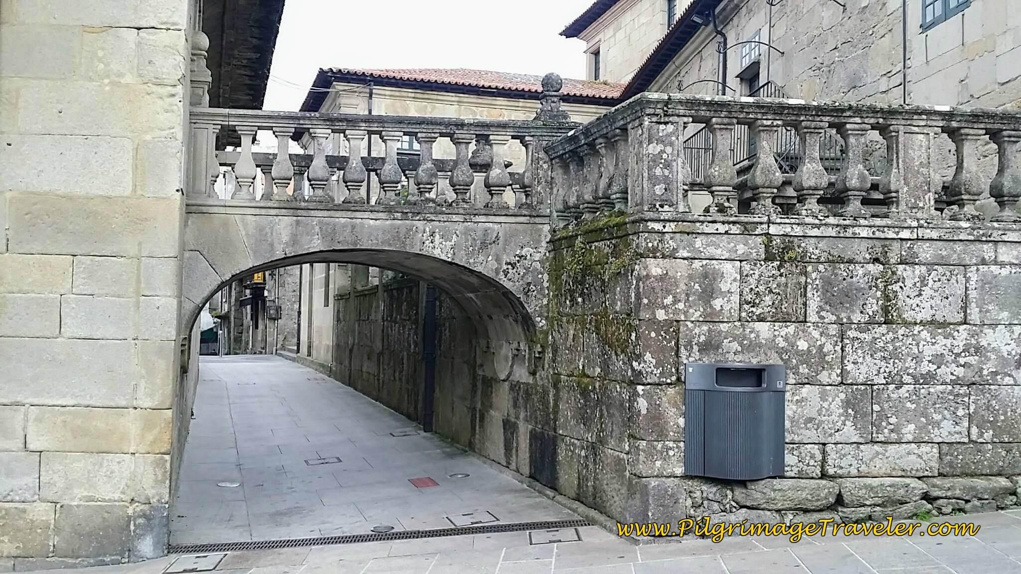 Archway on Praza da Leña, day twenty-two on the Camino Portugués
